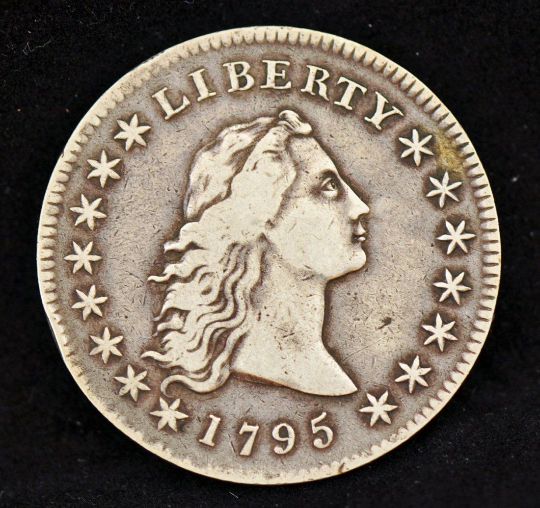 72: 1795 Flowing Hair Bust Silver Dollar