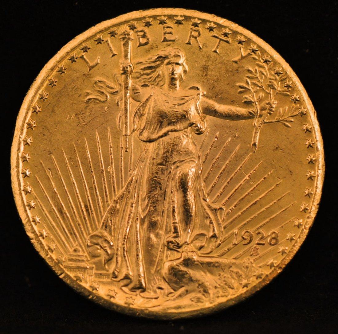 113: 1928 St. Gaudens $20 Gold Piece