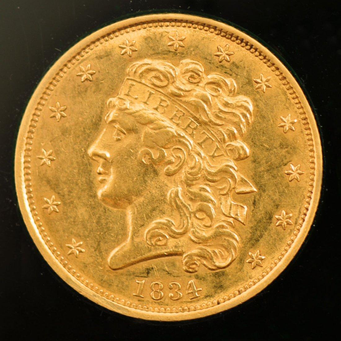 153: 1834 Liberty $5.00 Gold 1/2 Eagle Classic-Plain 4