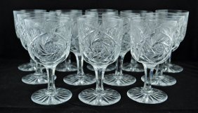 16: Set of 12 Brilliant Period Cut Glass Goblets