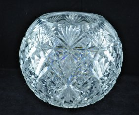 "19: American Brilliant Period Cut Glass 7"" Rose Bowl"