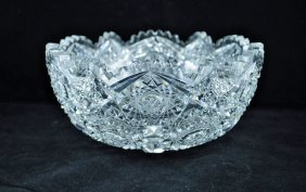 20: American Brilliant Period Cut Glass fruit Bowl