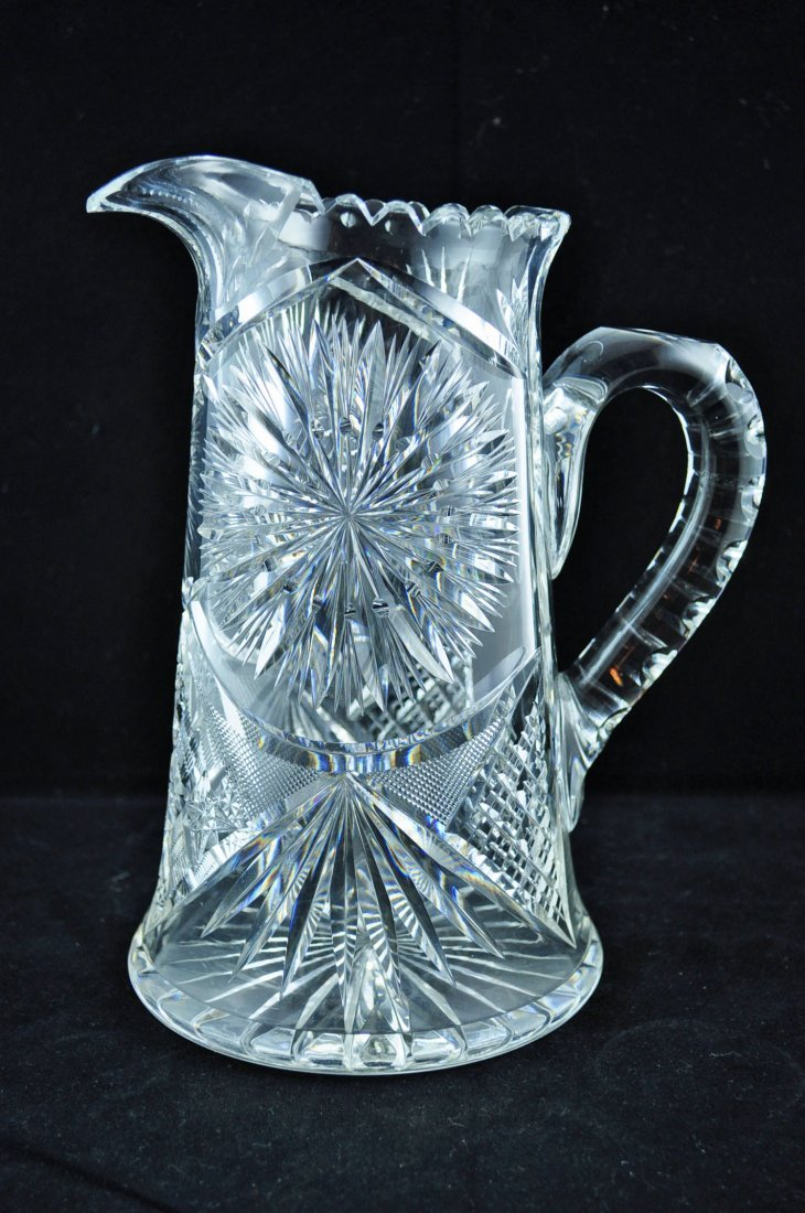 24: Brilliant Cut Glass Water Pitcher