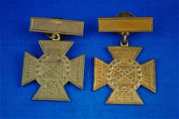 103: Pair of Unmarked U.C.V. Southern Crosses