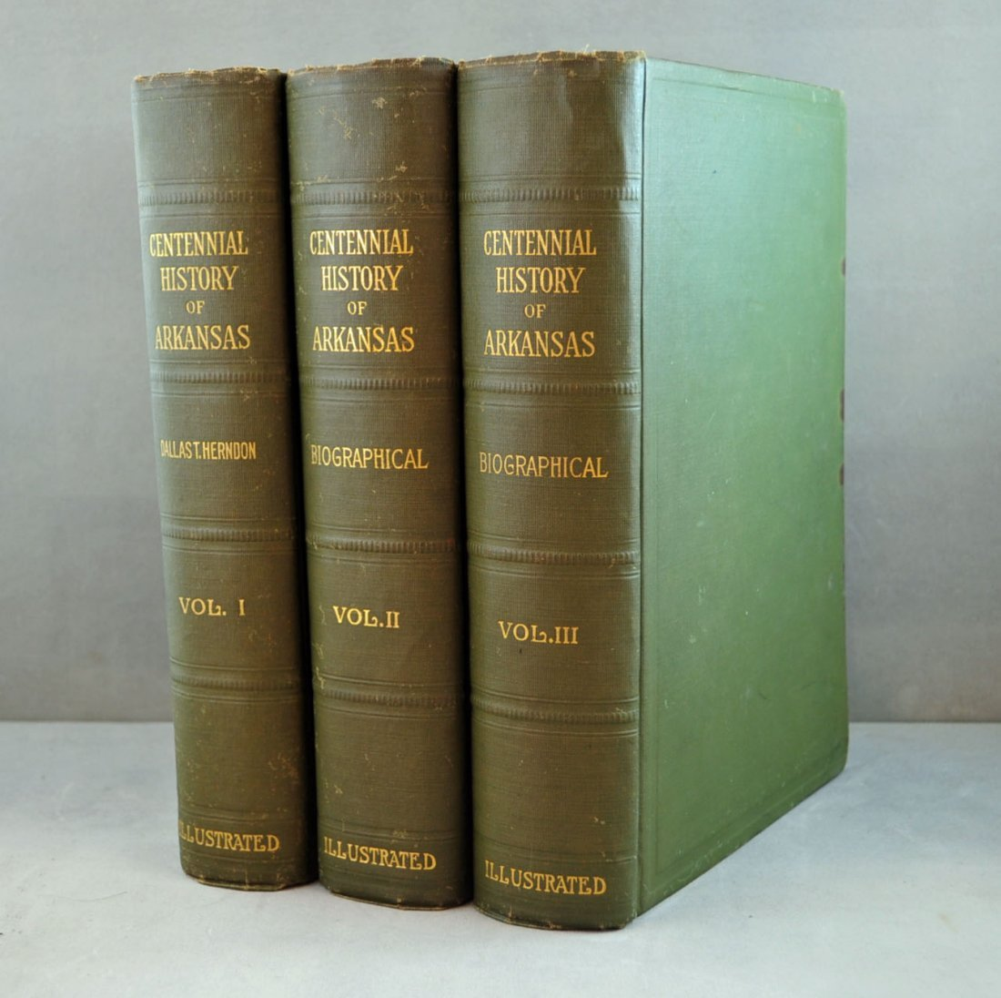 Centennial History of Arkansas 3 Vol. Set