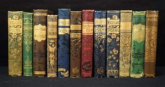 Group of 12 Beautiful Victorian Poetry Books