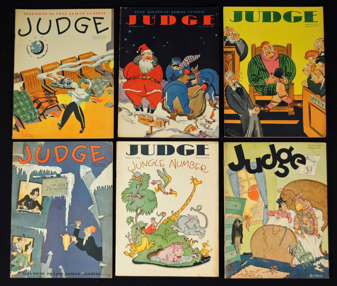 Judge Magazines 30`s, Dr.Seuss,E. Simms Campbell