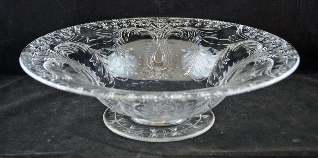 Cut Rock Crystal Center Bowl Attrib. to Pairpoint