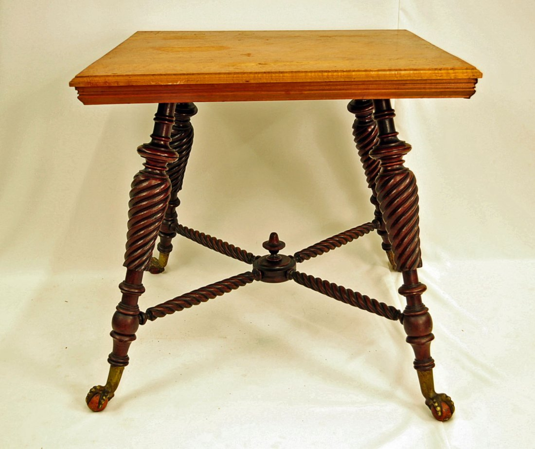 Huntzinger Center Table with Spiral Twist Legs