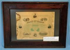 Maine Certificate for Civil War Service 1868