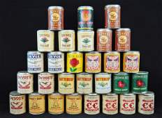 29 Vintage1.15oz Paper Labeled Snuff Cans, DeVoe