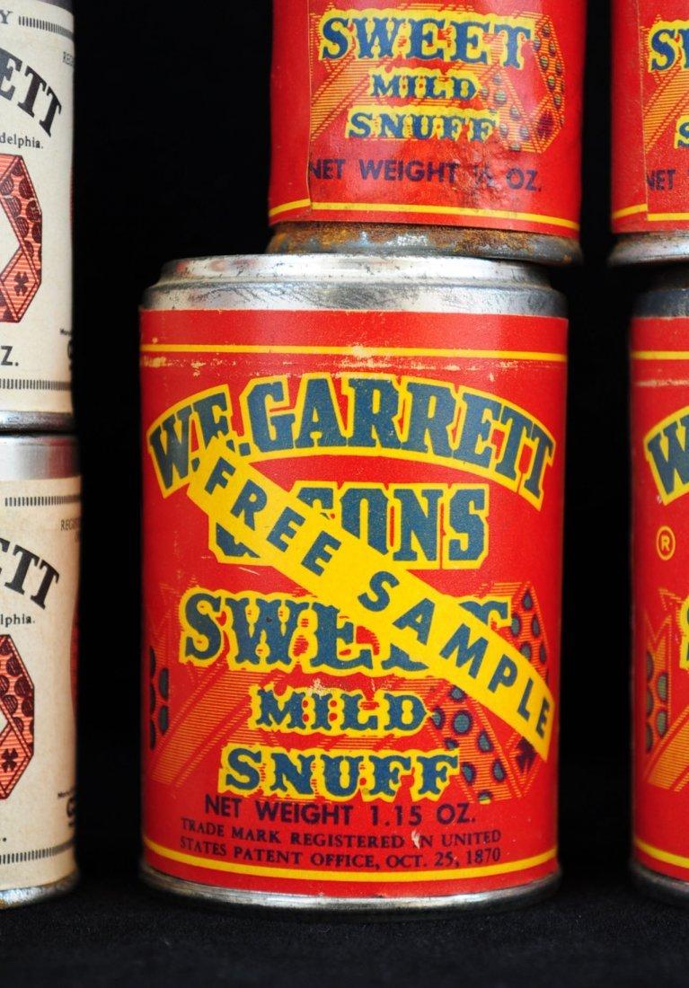 27 W.E. Garrett & Sons Snuff Cans Incl. 24 Samples - 2