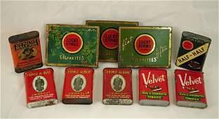 Box Lucky Strike Cigarette Prince Albert Etc Tins