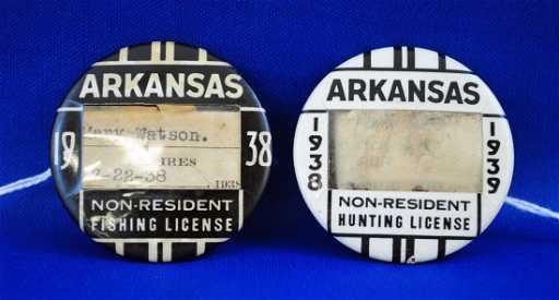 1938 arkansas non -resident hunting & fishing lic.