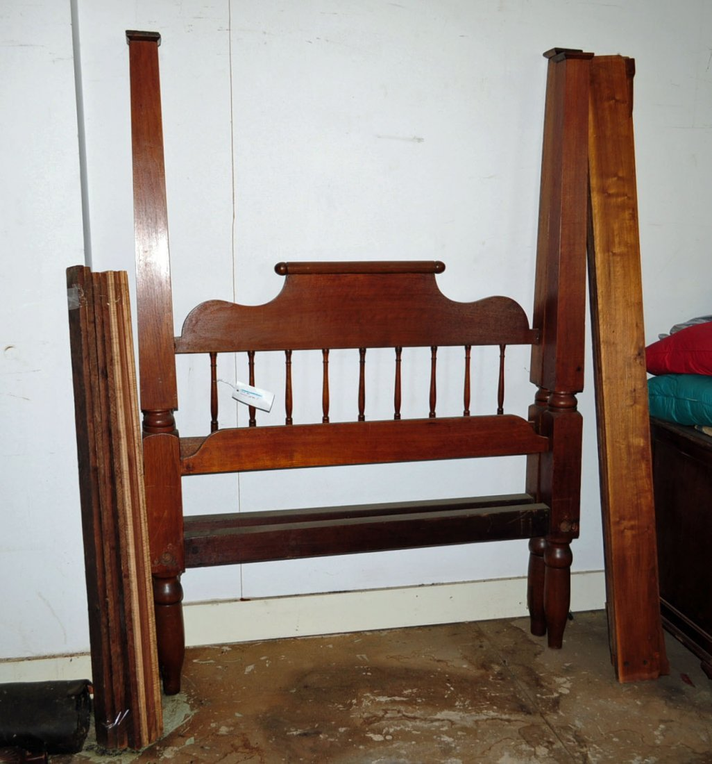 Early Walnut Tennessee Four Poster Bed