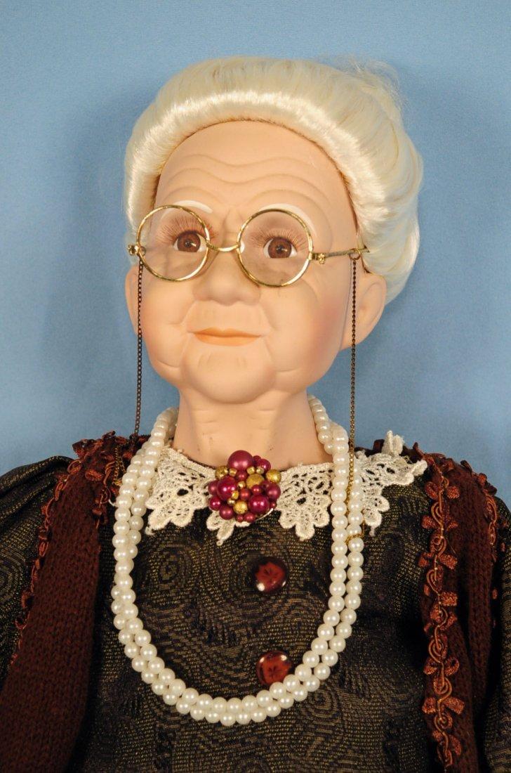 Two Goldenvale Porcelain Grandma & Grandpa Dolls - 2