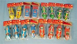 16 Empress  Lucky Toy  Japan Tin Race Cars 1960s