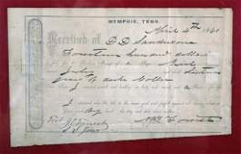 1860 Nathan Bedford Forrest Slave Bill of Sale