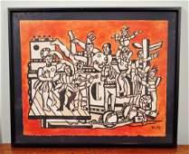 """Fernand Leger (1881-1955) """"La Grande Parade"""""""
