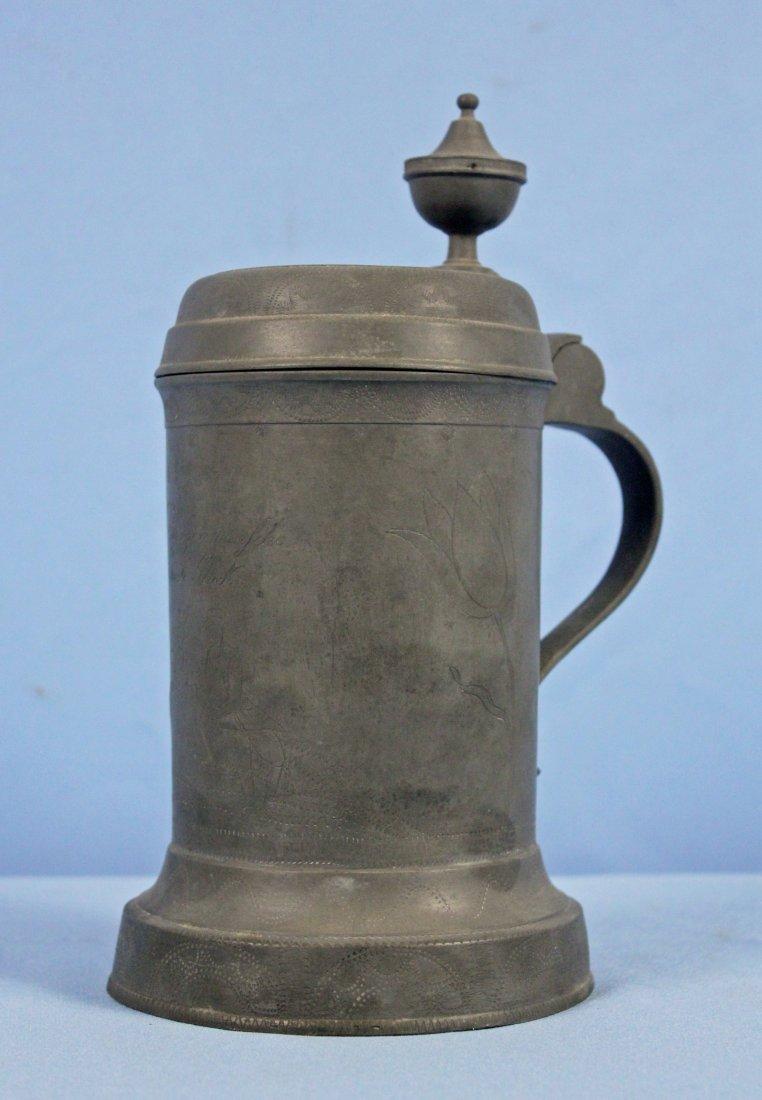 1826 C. Roessler Occupational Pewter Beer Stein