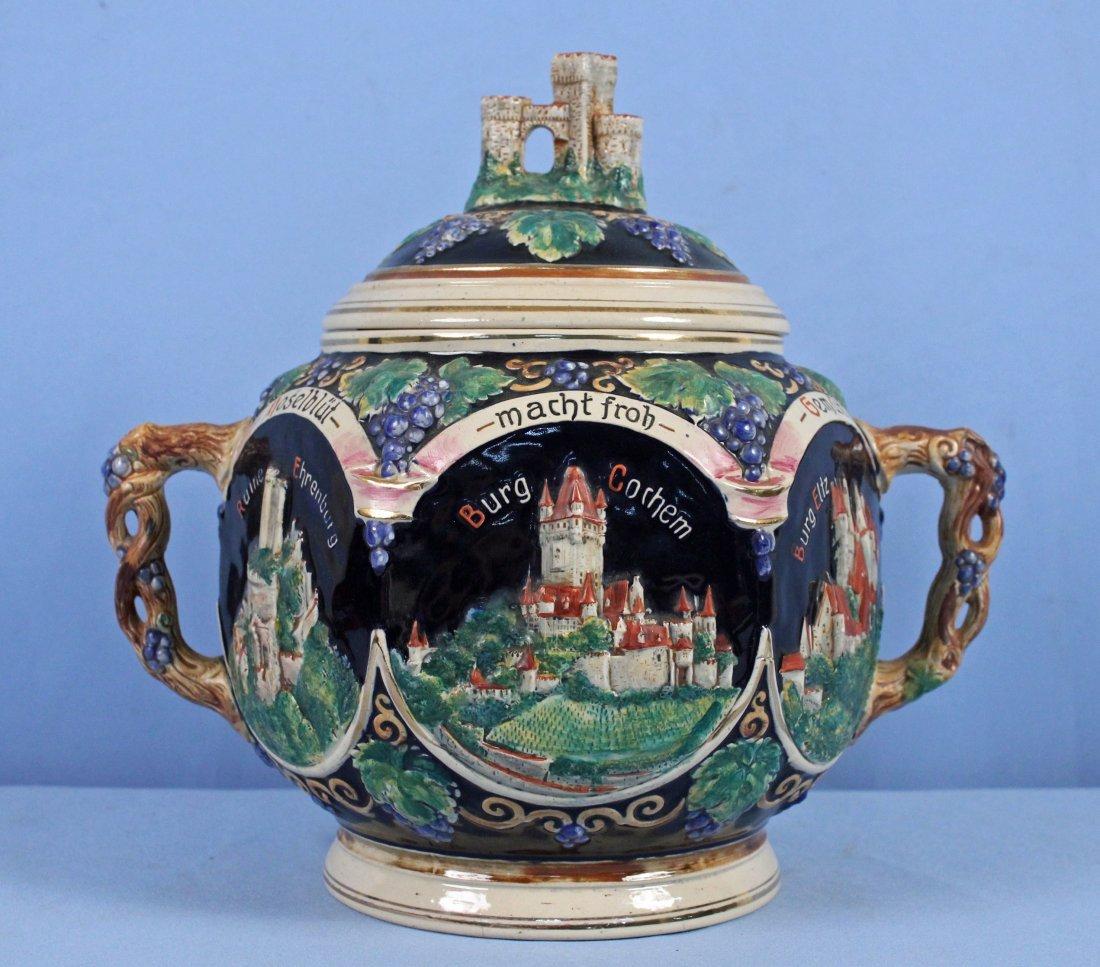 Reinhold Merkelbach German Mulled Wine Punch Bowl