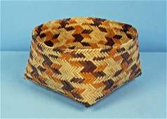 Choctaw Double-Woven River Cane Basket