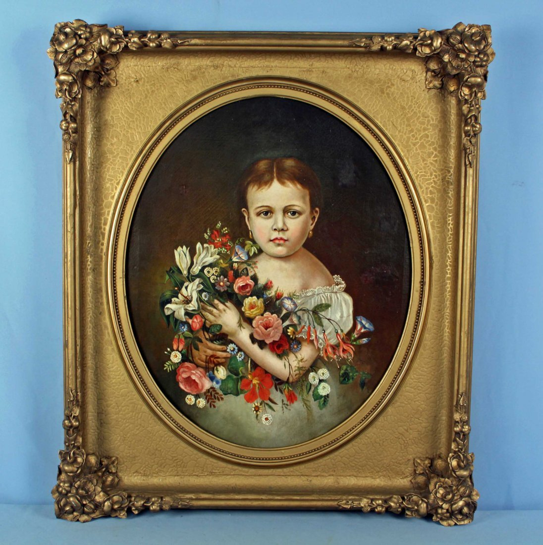 Portrait of Young Girl C. 1850 West Tennessee Prov
