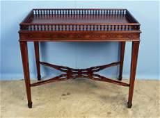 Wellington Hall Chippendale Mahogany Tea Table