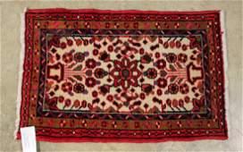 Persian Hamadan Prayer Rug 22 X 35