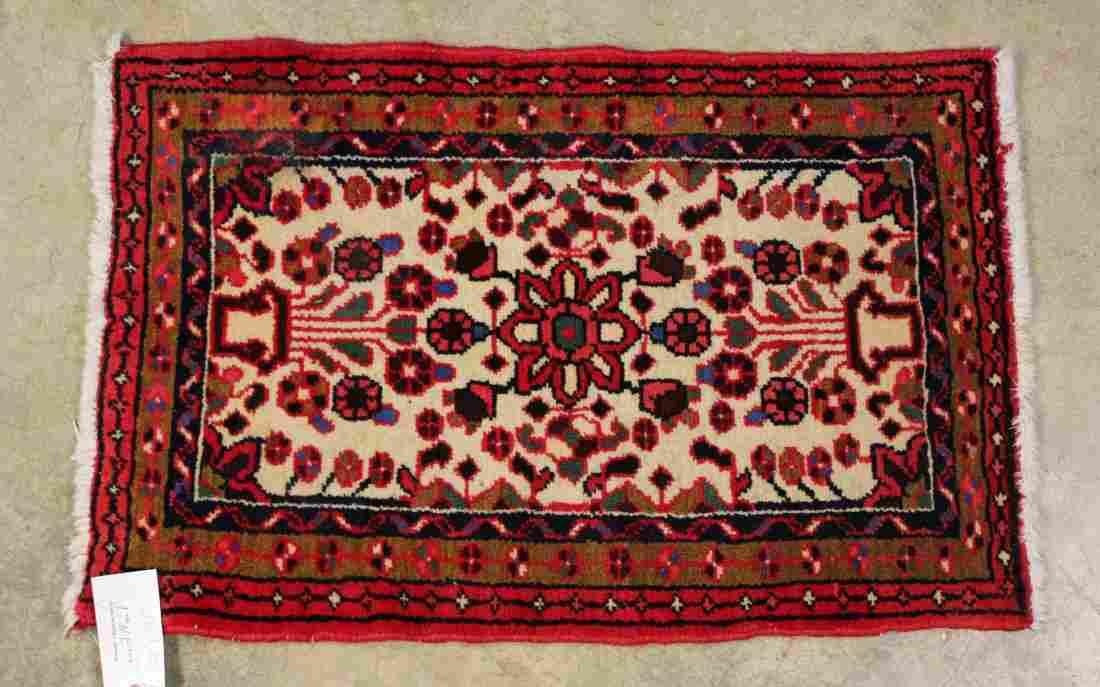 "Persian Hamadan Prayer Rug, 22"" X 35"""