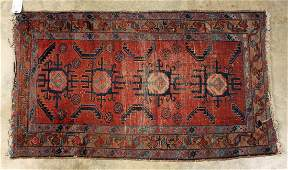 "Antique Persian Prayer Rug, 34"" X 59"""
