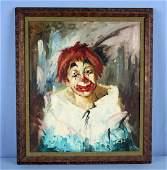 T. Helen 1934 ( W.T. Burger Co.) Clown Painting
