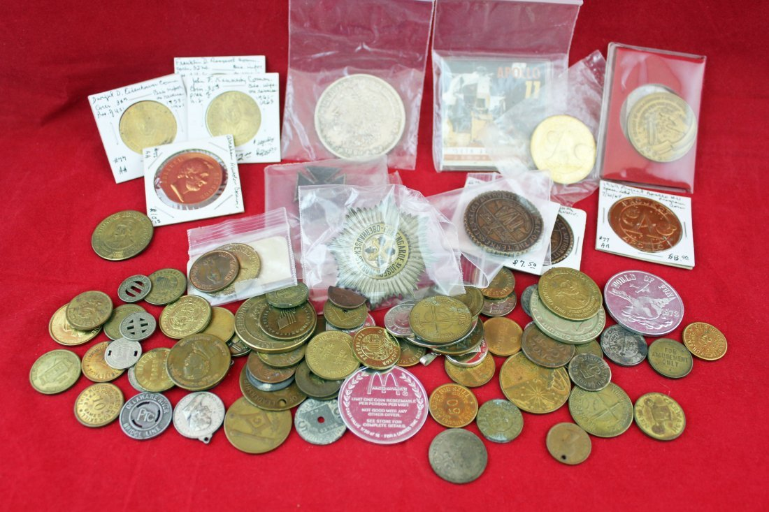 Group of Tokens, Medals and Commemorative Coins