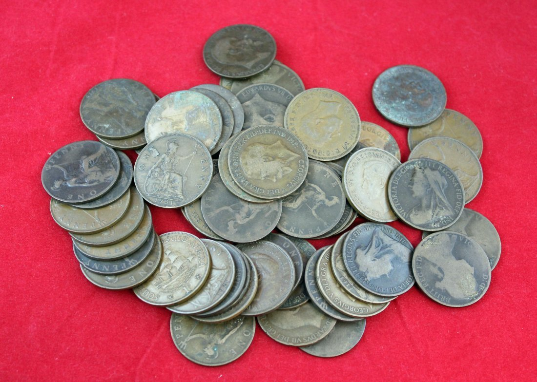 60 English Large Cents In Various Condition