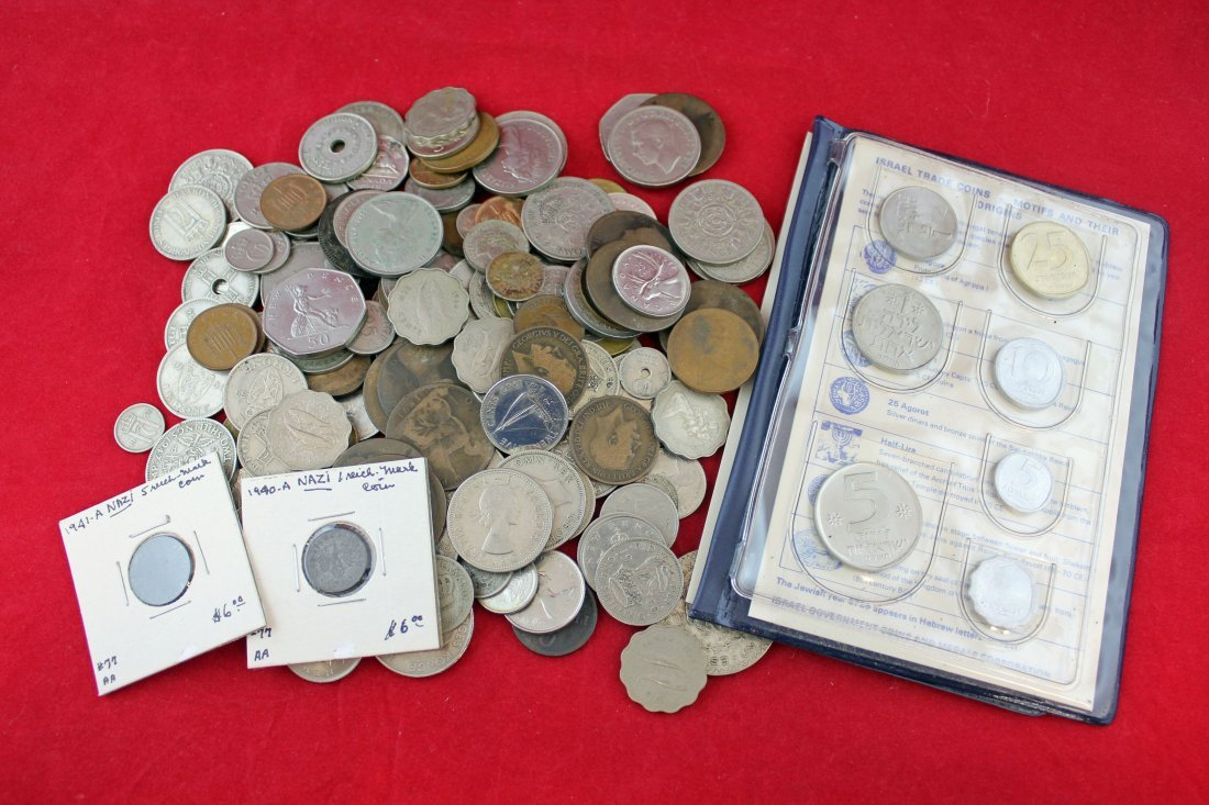 Assorted Group of Various Foreign Coins