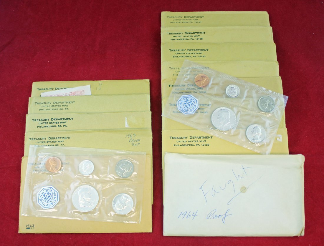 13 - 1963 & 1964 Silver Proof Sets
