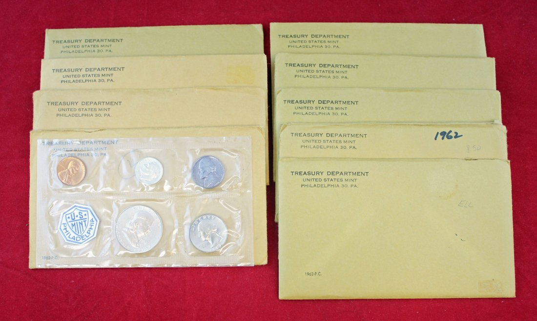 9 - 1962 Silver Proof Sets