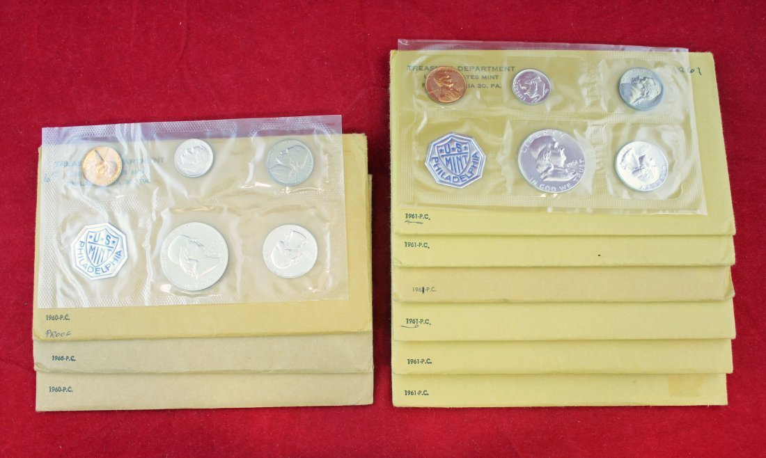 9 - 1960 & 1961 Silver Proof Sets