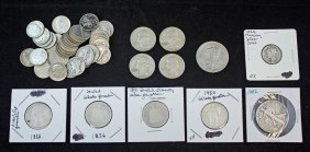 Group Of U.s. Silver Coins 1835 - 1964