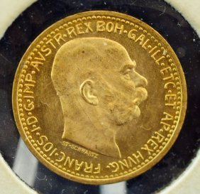 1912 Austria 10 Corona Gold Piece