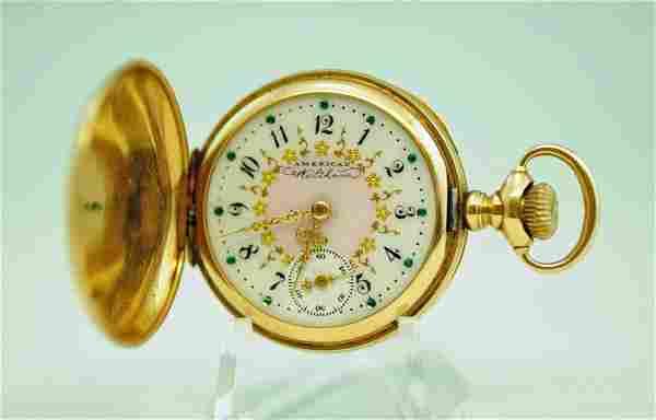 American Waltham 14k Gold Lady's Hunter Case Watch