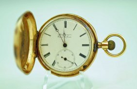 18k Gold Albin Bourquin Hunter Case Pocket Watch
