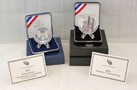 2011 Us Mint Silver Sept. 11 & Medal Of Honor Comm