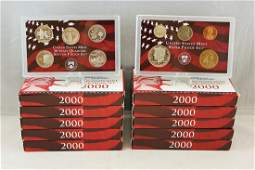 Group of 10 - 2000 U.S. Mint Silver Proof Sets