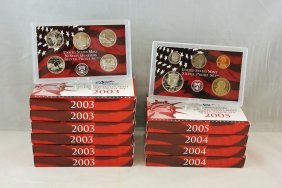 2003,2004 & 2005 U.s. Mint Silver Proof Sets