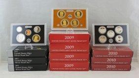 10 U.s. Mint Silver Proof Sets 2009, 2010 & 2011