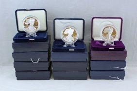 10 American Eagle .999 Silver Proofs 1990 - 2007