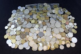 Large Lot Of Foreign Coins 19th And 20th Century