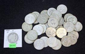 37 Kennedy 40% Silver Half Dollars & 1907 O Half