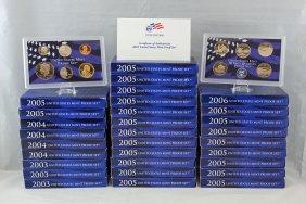 30 United States Mint Proof Sets 2003 - 2006